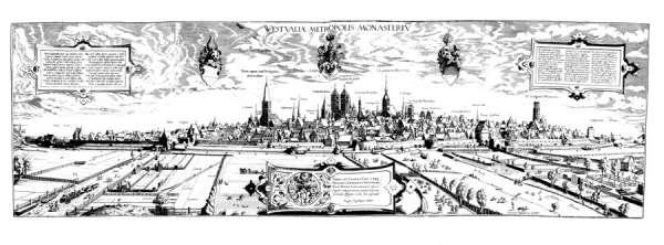 Remigius Hogenberg - Historische Karte Münster 1570