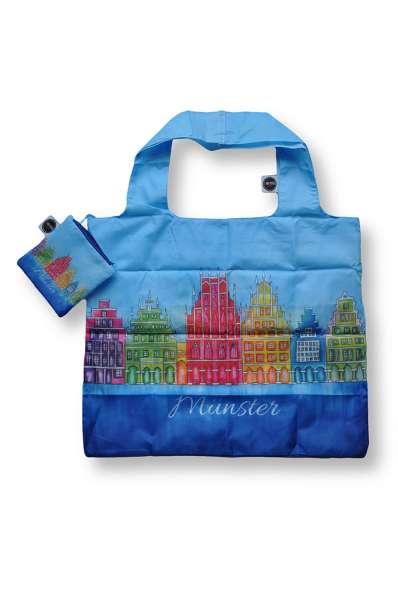 Faltbare Einkaufstasche Bockstette - Prinzipalmarkt blau