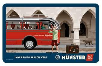 Frühstücksbrettchen Wentrup - Reisebus nach Münster