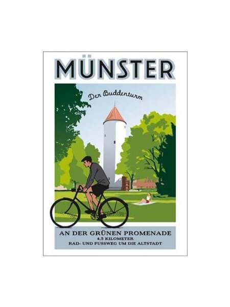 Poster Wentrup - Buddenturm an der Promenade in Münster