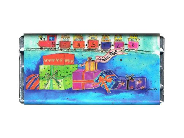 Weihnachts-Vollmilchschokolade Kiesewalter - Geschenke blau