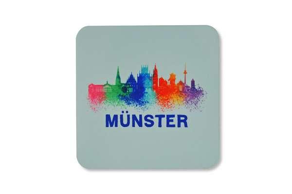 Untersetzer - Münster Skyline bunt