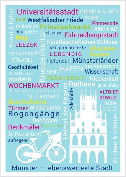 Postkarte - Münsterwörter mmm
