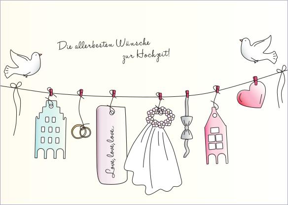 Postkarte - Grüße zur Hochzeit mmm