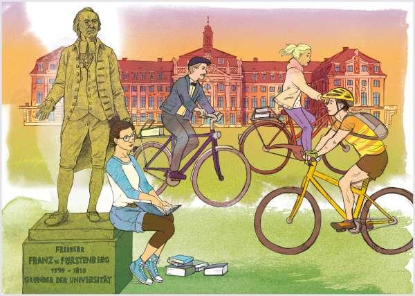 Postkarte - Universität mmm