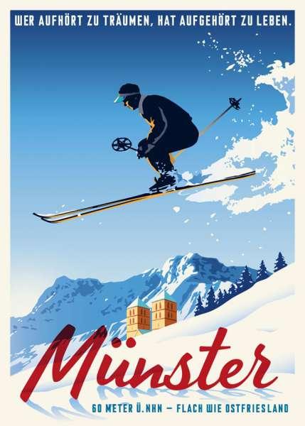 Postkarte Wentrup - Wintersport