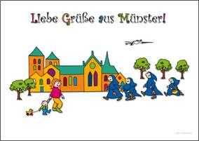 Postkarte JHD - MuKKi Dom mit Nonnen