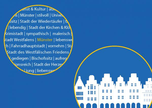 Postkarte - Münster_Giebel_Kreis mmm