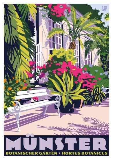 Postkarte Wentrup - Botanischer Garten