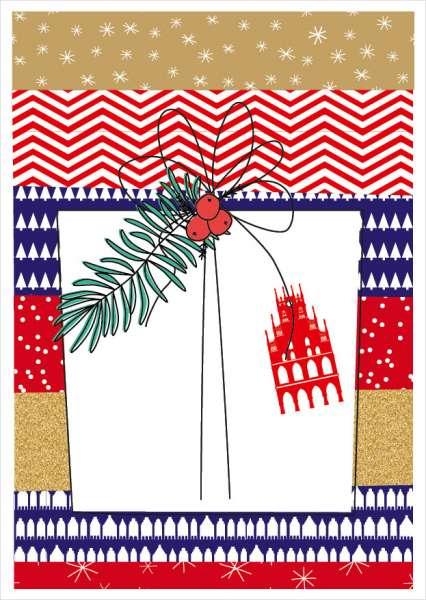 Postkarte Geschenk Rathaus mmm